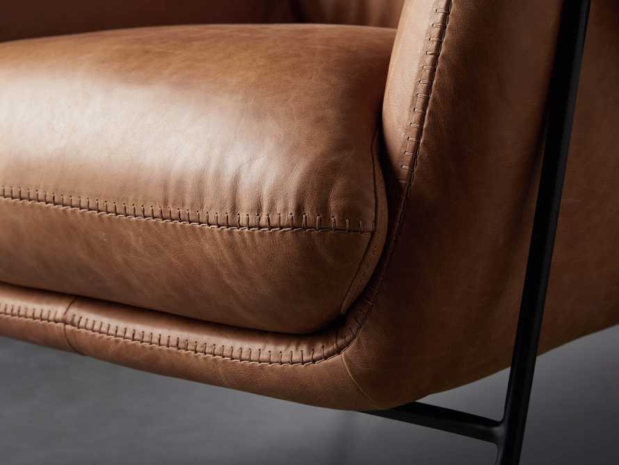 """Engles Leather 35"""" Chair in Saddlebag Coin, slide 7 of 14"""