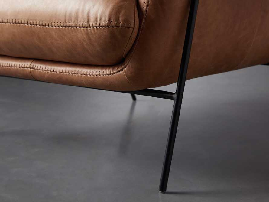 """Engles Leather 35"""" Chair in Saddlebag Coin, slide 9 of 13"""