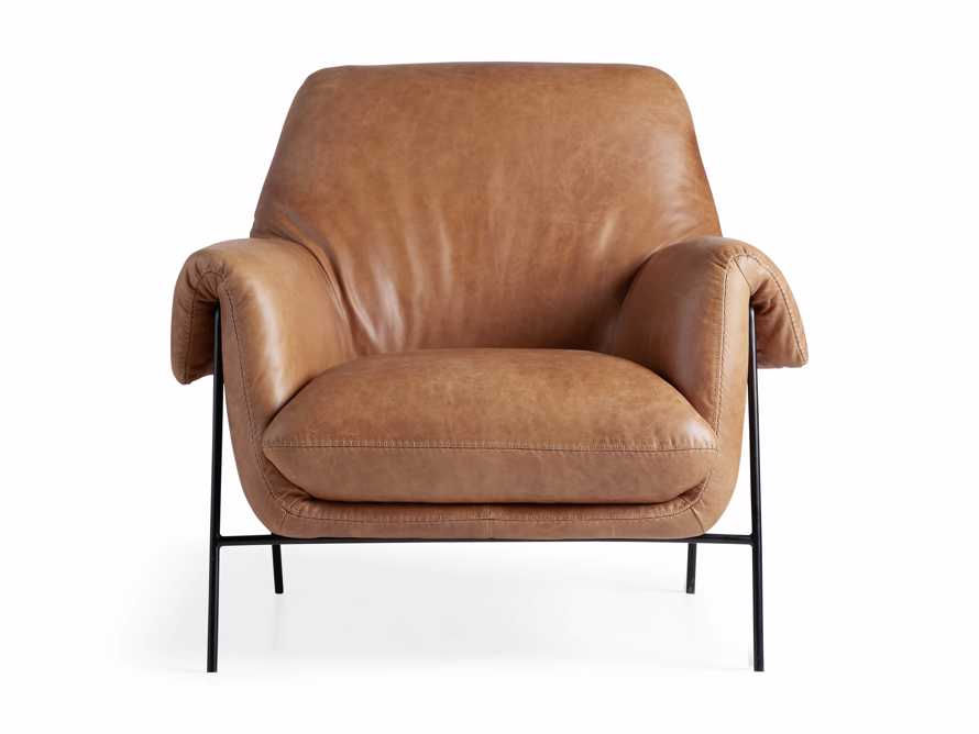 """Engles Leather 35"""" Chair in Saddlebag Coin, slide 12 of 13"""