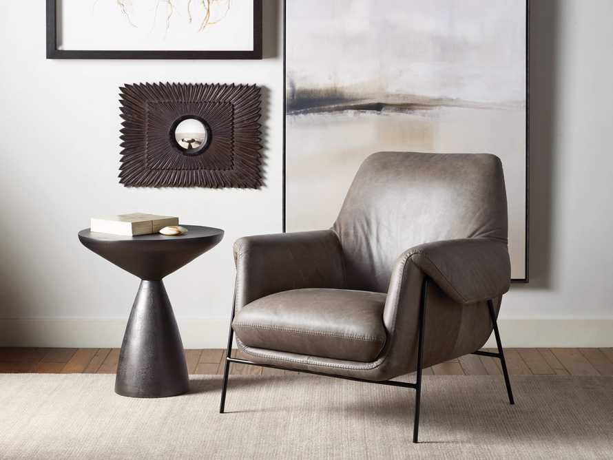 """Engles Leather 35"""" Chair in Saddlebag Lead, slide 1 of 9"""