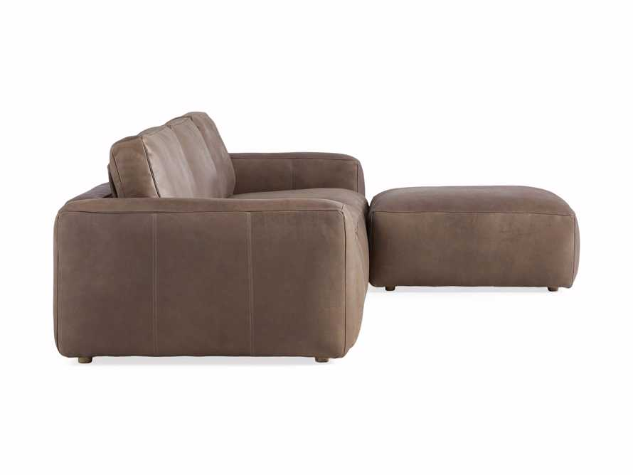 Innsbruck Leather Four Piece Sofa Sectional with Ottoman in Burnham Chocolate, slide 3 of 4