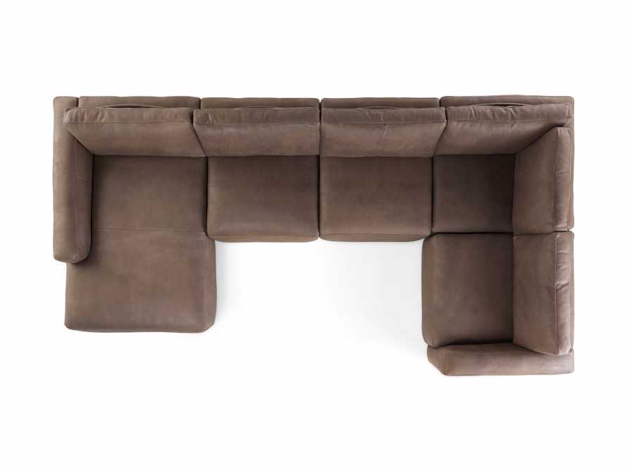 Innsbruck Leather Five Piece Left Chaise Sectional in Burnham Chocolate, slide 4 of 4