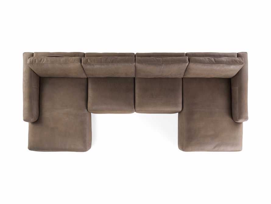 Innsbruck Leather Four Piece Double Chaise Sectional in Burnham Chocolate, slide 4 of 4
