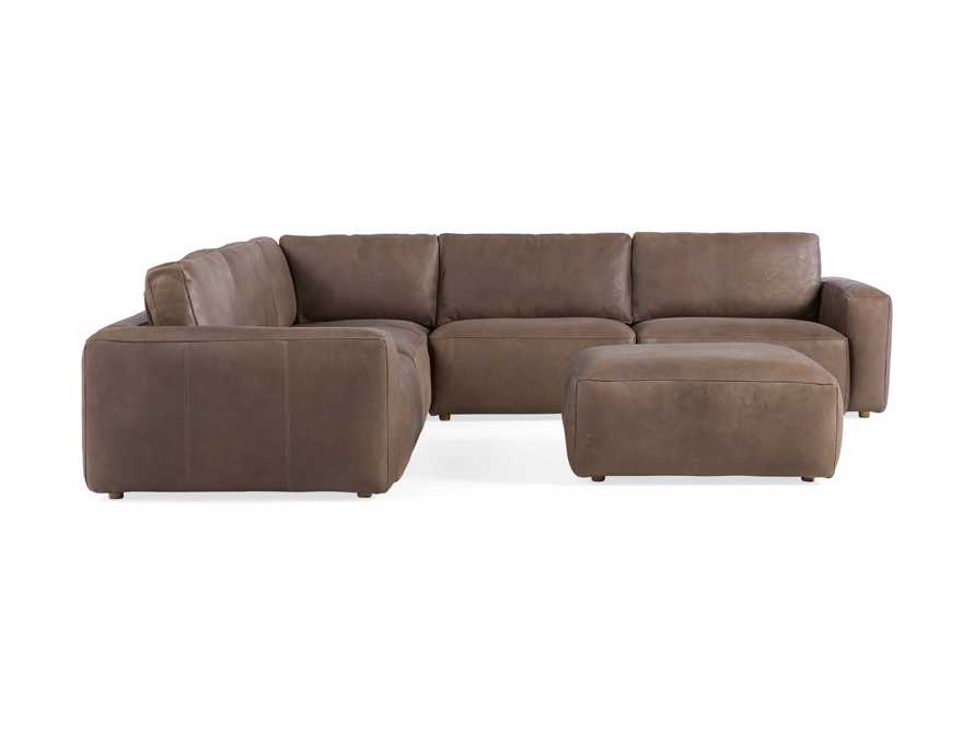 Innsbruck Leather Six Piece Large Corner Sectional in Burnham Chocolate, slide 2 of 4
