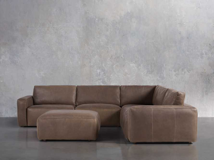 Innsbruck Leather Six Piece Large Corner Sectional in Burnham Chocolate, slide 1 of 4