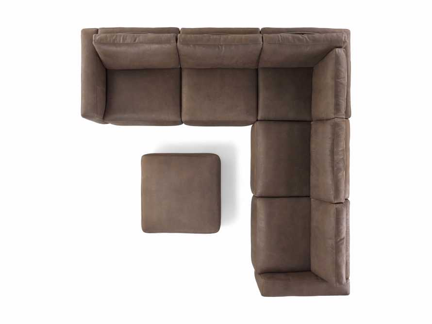 Innsbruck Leather Six Piece Large Corner Sectional in Burnham Chocolate, slide 4 of 4
