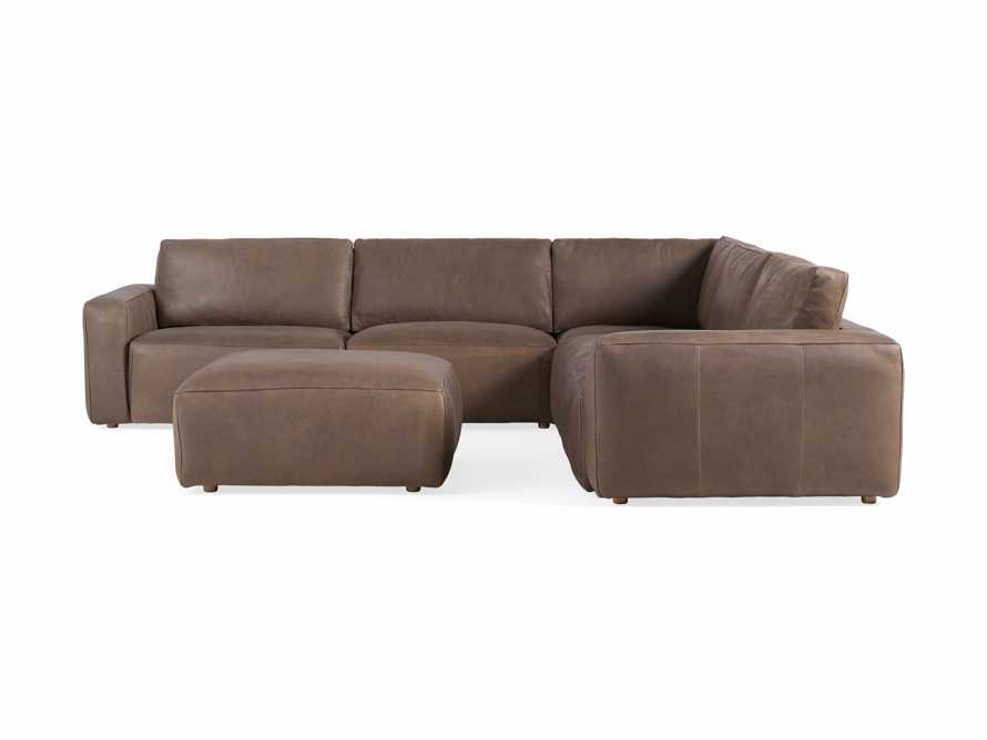 Innsbruck Leather Six Piece Large Corner Sectional in Burnham Chocolate, slide 3 of 4