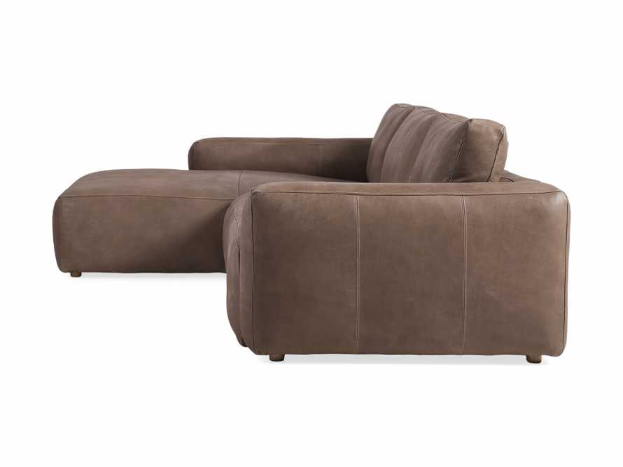 Innsbruck Leather Two Piece Left Arm Chaise Sectional in Burnham Chocolate, slide 4 of 5