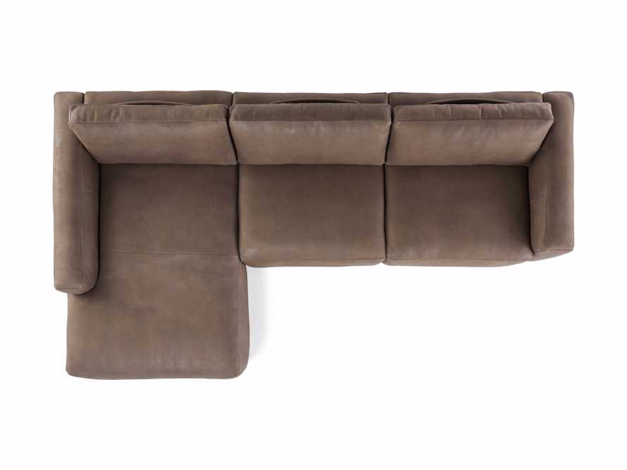 Innsbruck Leather Two Piece Left Arm Chaise Sectional in Burnham Chocolate, slide 5 of 5