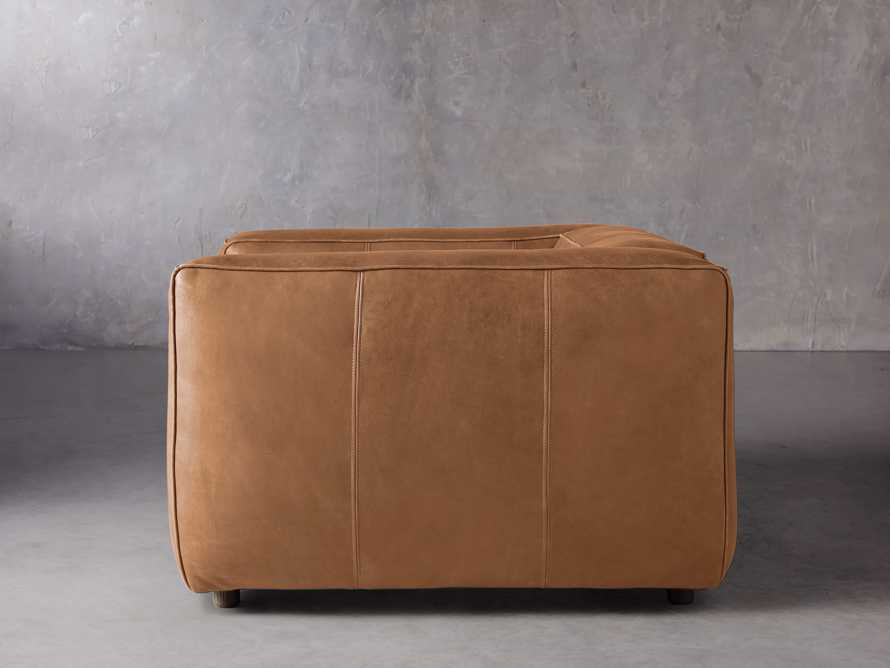 """Madrone Leather 49"""" Chair in Burnham Camel, slide 3 of 8"""