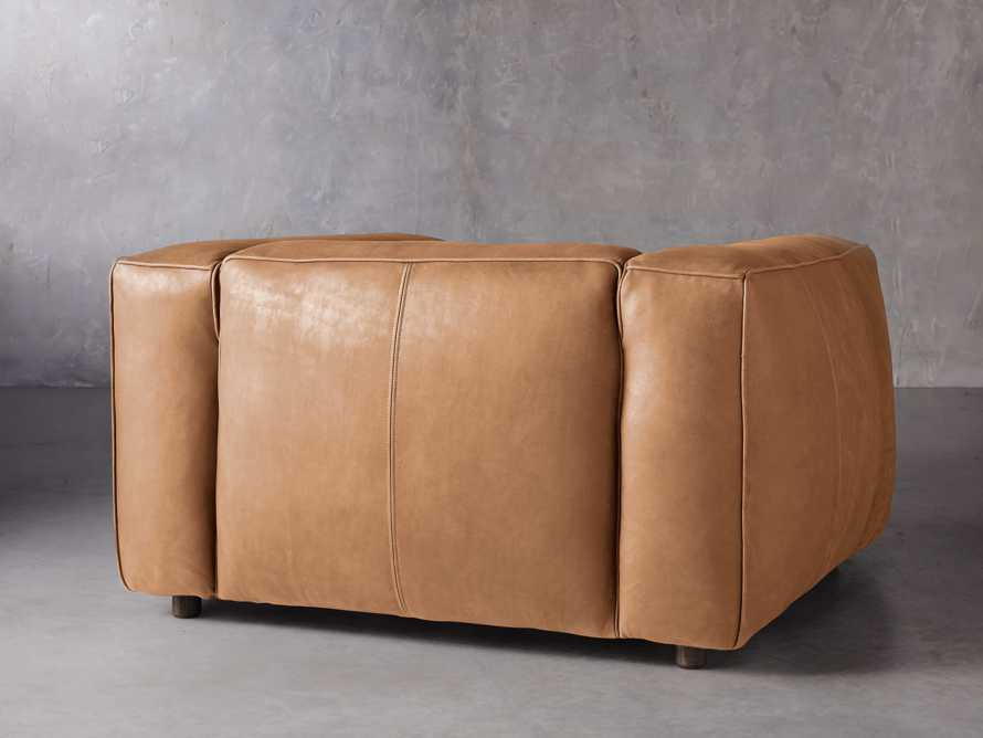 """Madrone Leather 49"""" Chair in Burnham Camel, slide 4 of 8"""