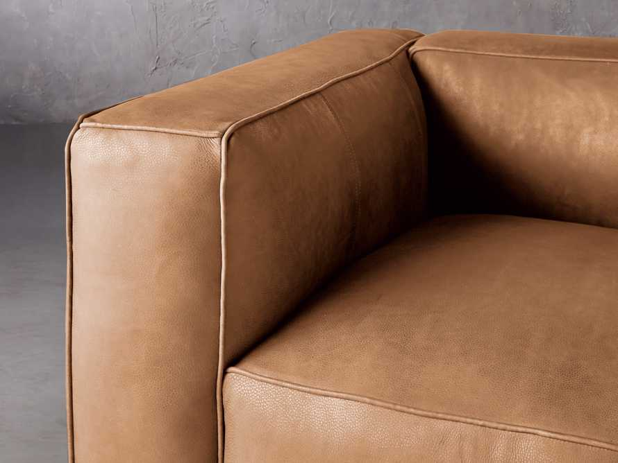 """Madrone Leather 49"""" Chair in Burnham Camel, slide 5 of 8"""