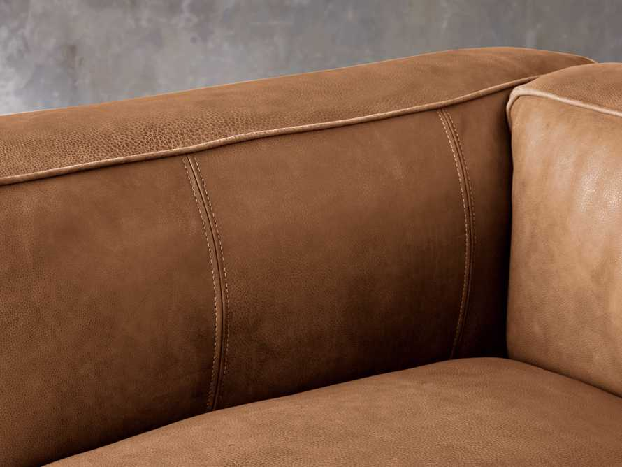 """Madrone Leather 49"""" Chair in Burnham Camel, slide 6 of 8"""
