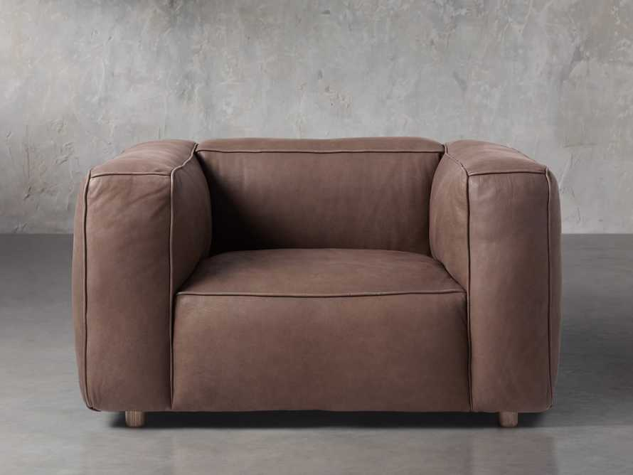 """Madrone Leather 49"""" Chair in Burnham Chocolate, slide 1 of 4"""
