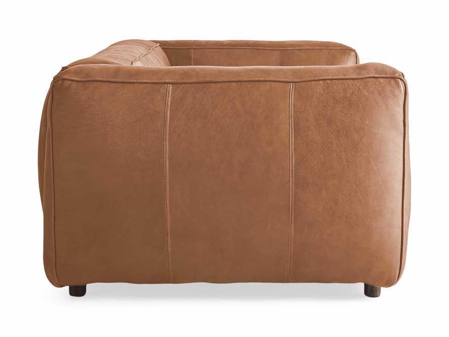"Madrone Leather 100"" Sofa in Burnham Camel, slide 8 of 8"