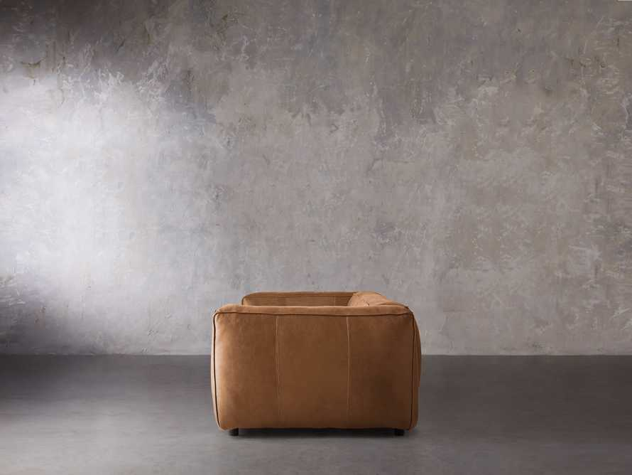 "Madrone Leather 100"" Sofa in Burnham Camel, slide 3 of 8"