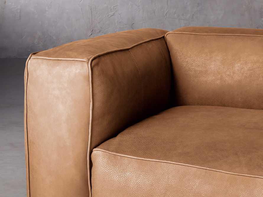 "Madrone Leather 100"" Sofa in Burnham Camel, slide 5 of 8"