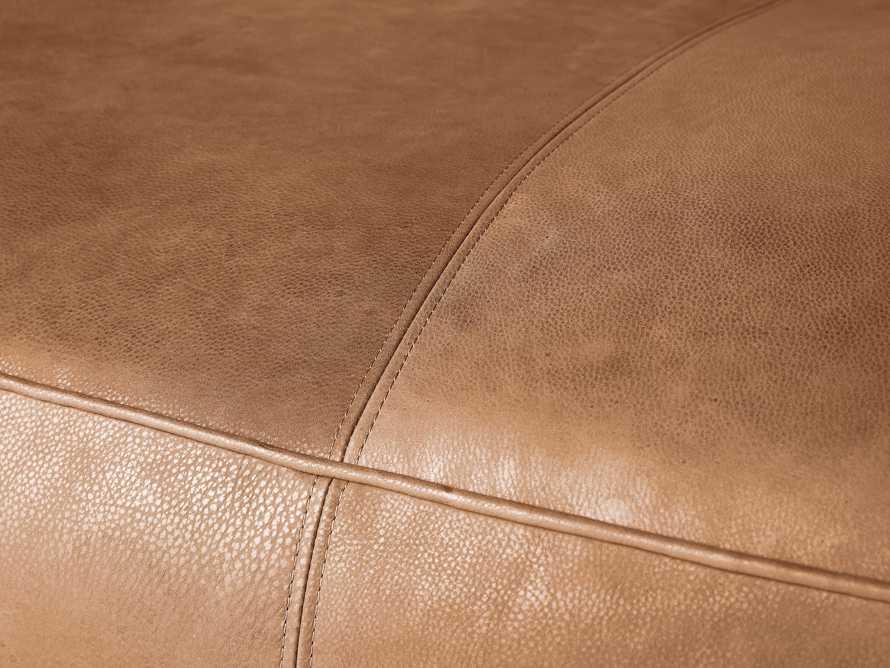 "Madrone Leather 100"" Sofa in Burnham Camel, slide 6 of 8"