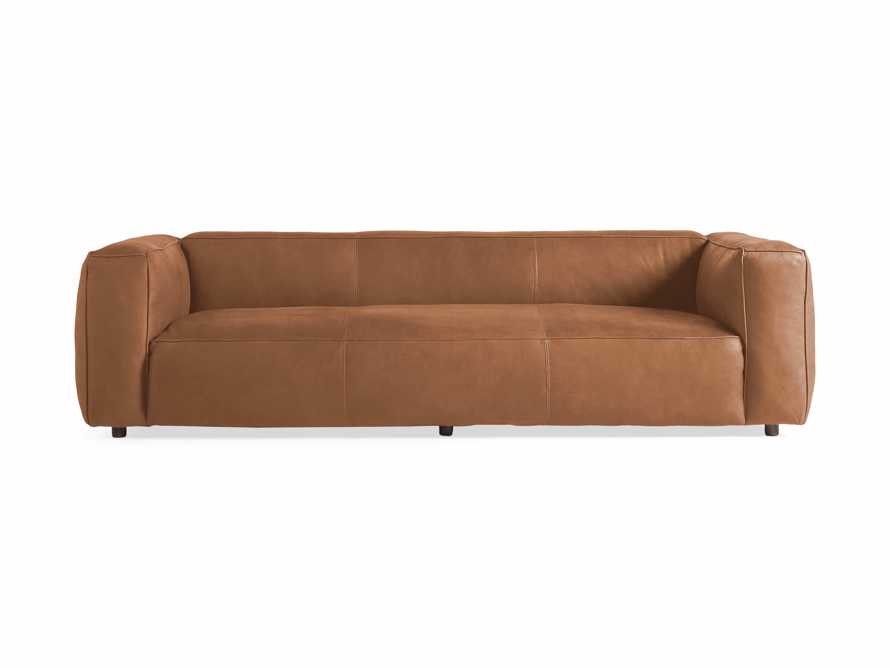 "Madrone Leather 100"" Sofa in Burnham Camel, slide 7 of 8"