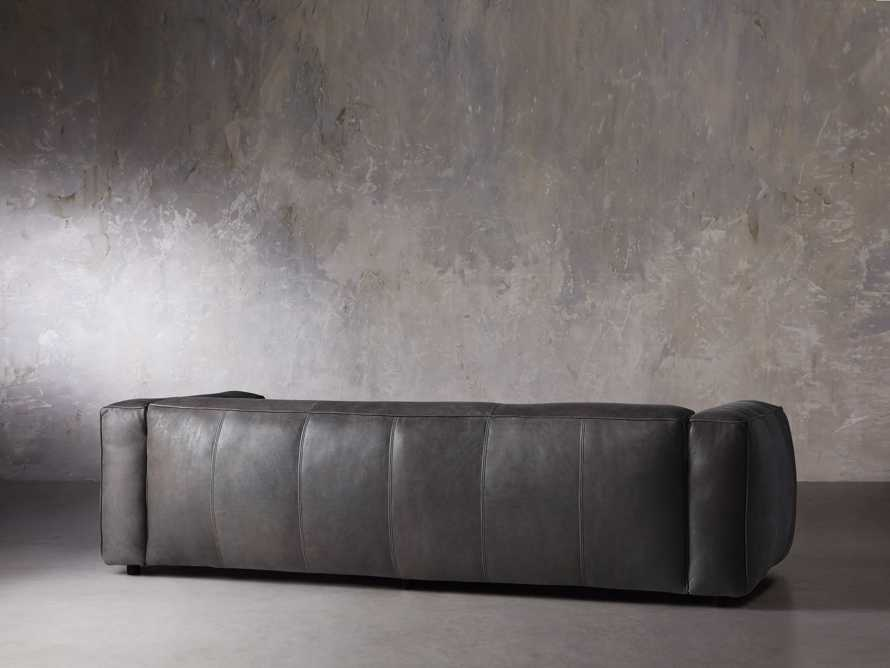 "Madrone Leather 100"" Sofa in Burnham Graphite, slide 5 of 11"