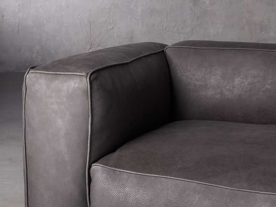 "Madrone Leather 100"" Sofa in Burnham Graphite, slide 6 of 11"