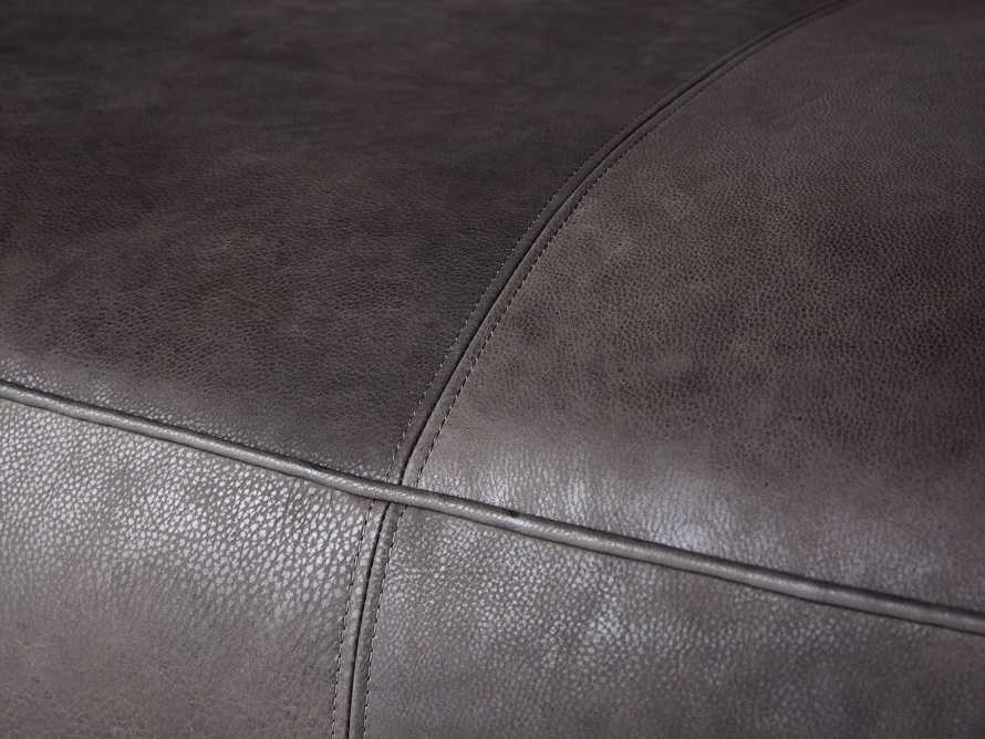"Madrone Leather 100"" Sofa in Burnham Graphite, slide 7 of 11"