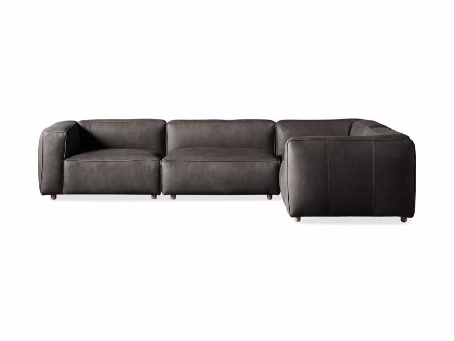 Madrone Leather Four Piece Left Arm Sectional in Burnham Graphite, slide 6 of 6