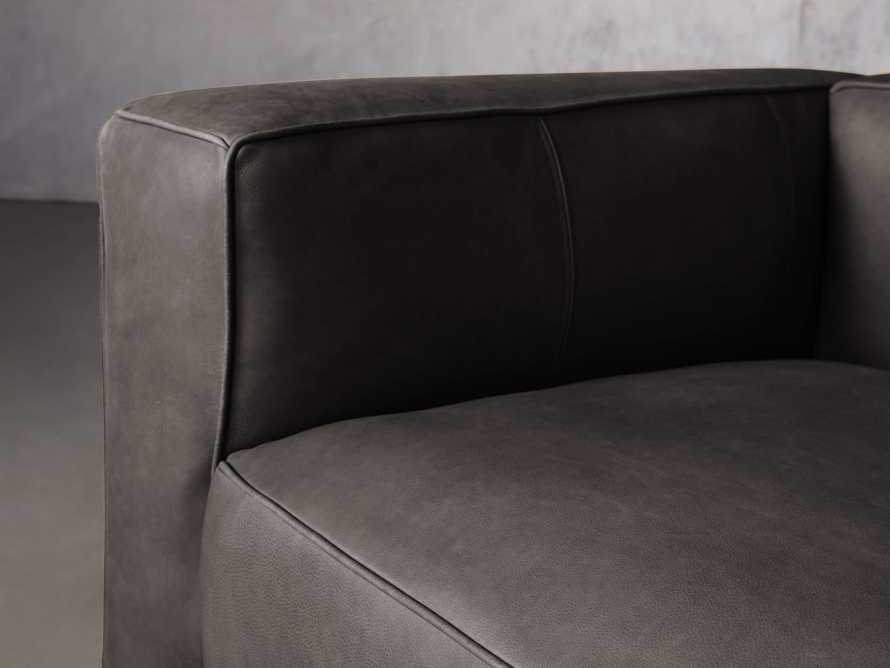 Madrone Leather Four Piece Left Arm Sectional in Burnham Graphite, slide 5 of 6