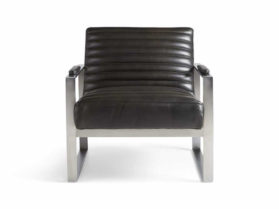 "Reginald Matte Steel Leather 30"" Chair"