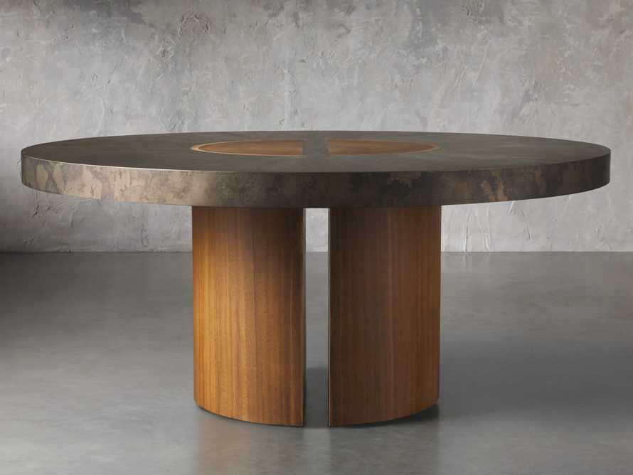 "Acacius 70"" Round Dining Table, slide 2 of 8"
