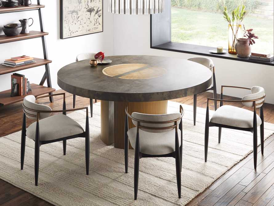 "Acacius 70"" Round Dining Table, slide 1 of 8"