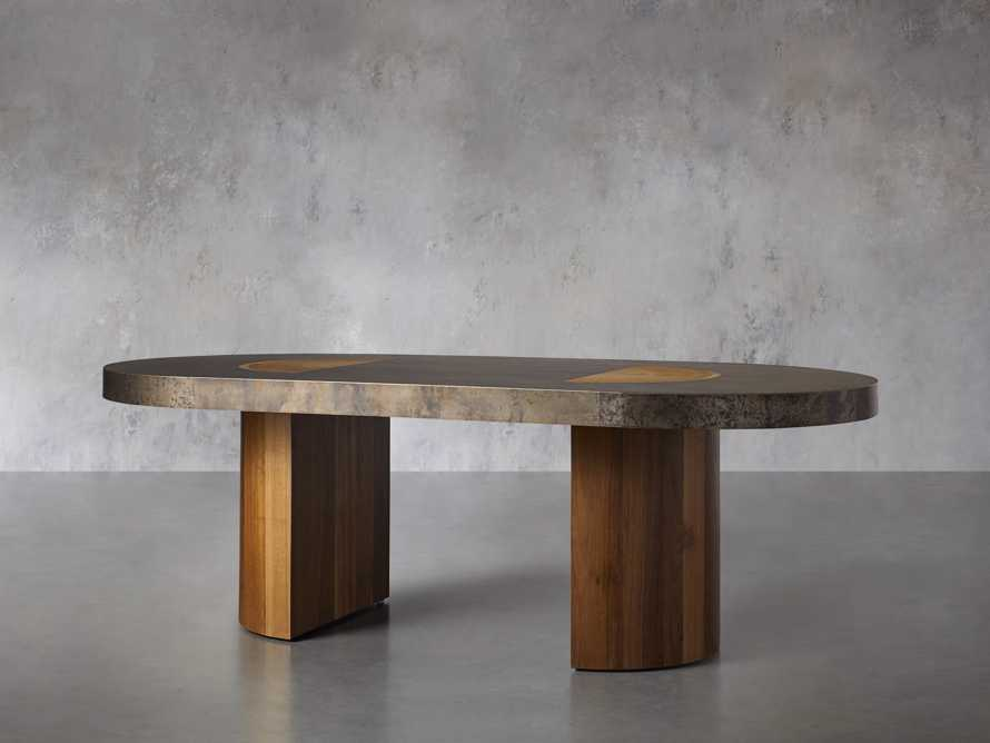 """Acacius 96"""" Oval Dining Table, slide 4 of 9"""