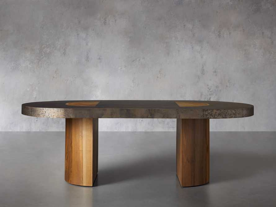 """Acacius 96"""" Oval Dining Table, slide 3 of 9"""