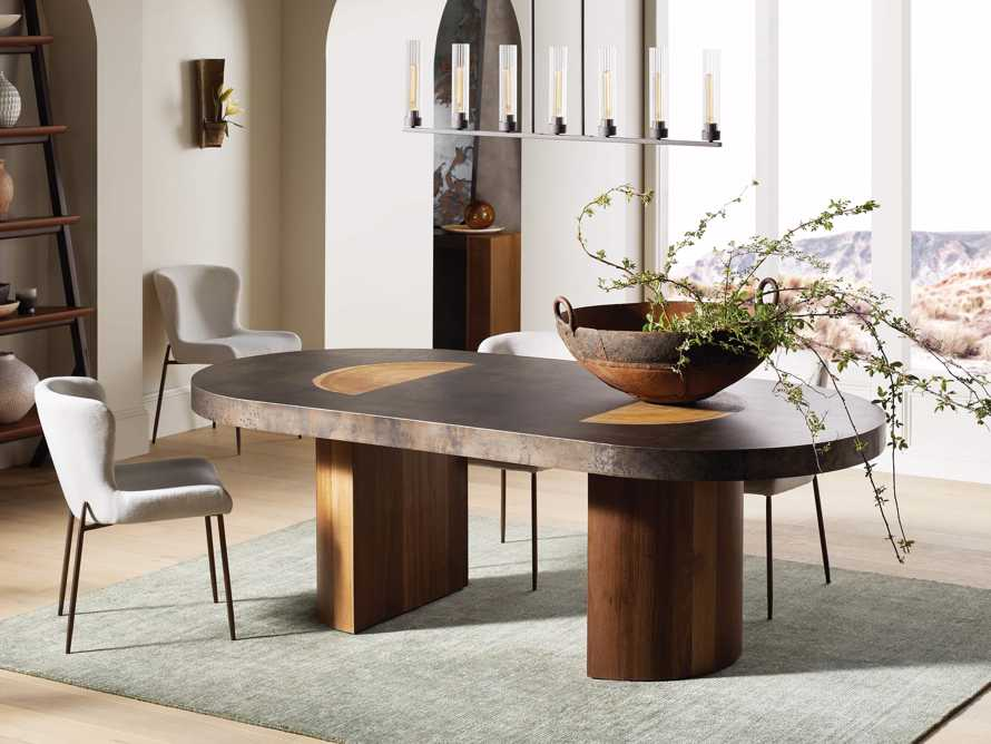 """Acacius 96"""" Oval Dining Table, slide 1 of 9"""