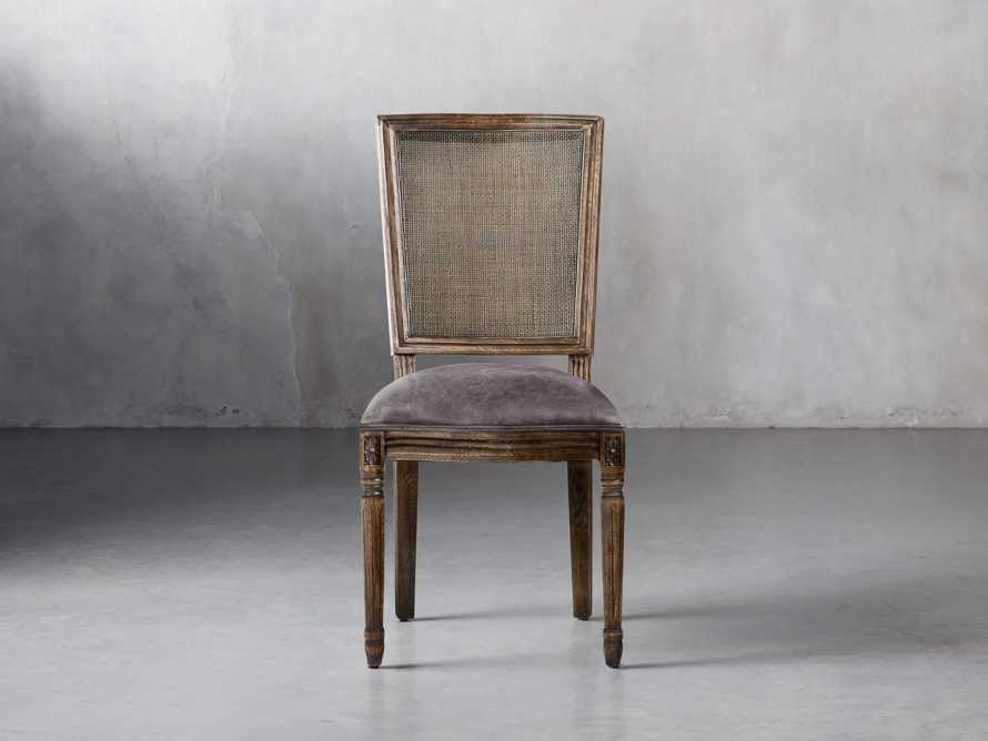"Adele 19"" Rattan Back Dining Side Chair in Cinder, slide 2 of 6"
