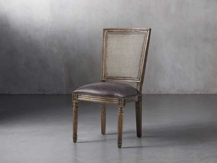 "Adele 19"" Rattan Back Dining Side Chair in Cinder, slide 6 of 6"