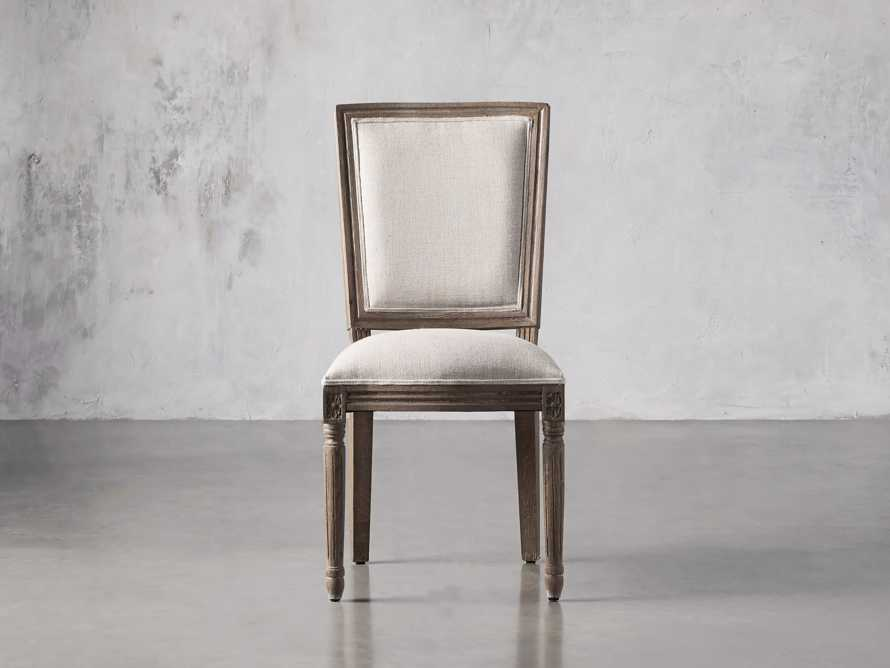 Adele Upholstered Dining Side Chair in Weathered, slide 1 of 7