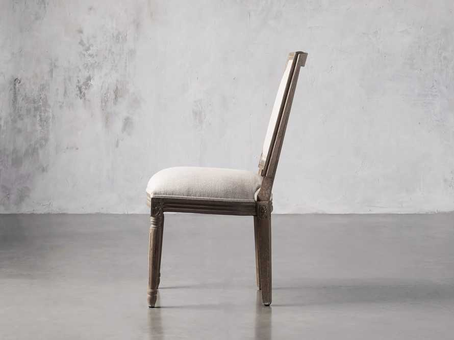 Adele Upholstered Dining Side Chair in Weathered, slide 3 of 7