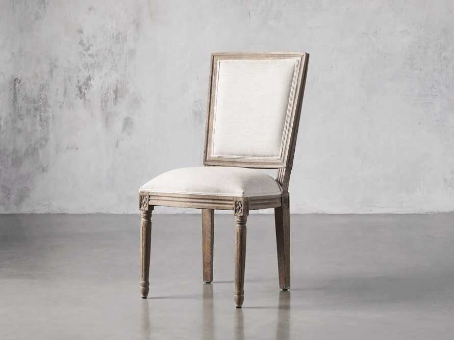 Adele Upholstered Dining Side Chair in Weathered, slide 2 of 7