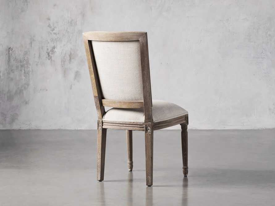 Adele Upholstered Dining Side Chair in Weathered, slide 4 of 7