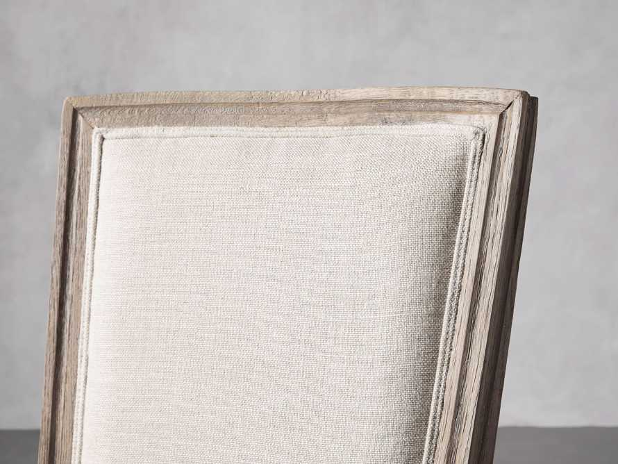 Adele Upholstered Dining Side Chair in Weathered, slide 6 of 7