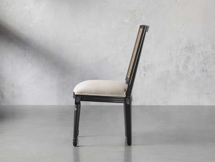"""Adele 23"""" Cane Back Dining Side Chair in Black"""