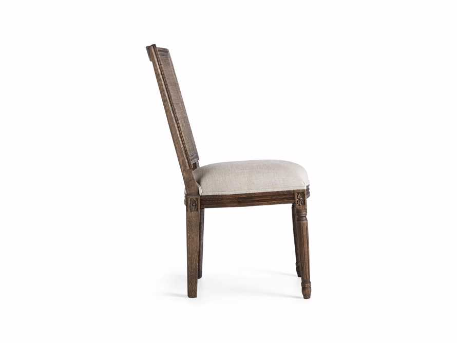 "Adele 23"" Cane Back Dining Side Chair in Cinder"