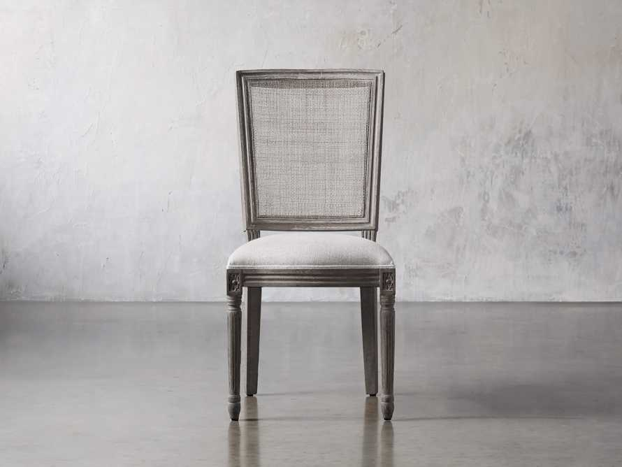 "Adele 23"" Cane Back Dining Side Chair in Stone Vintage, slide 1 of 8"