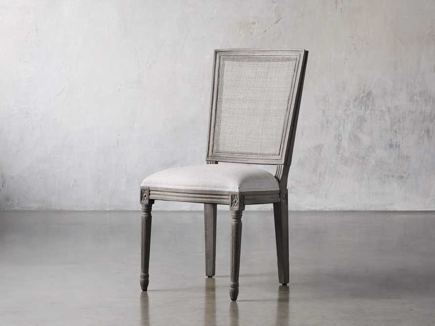 "Adele 23"" Cane Back Dining Side Chair in Stone Vintage, slide 2 of 8"