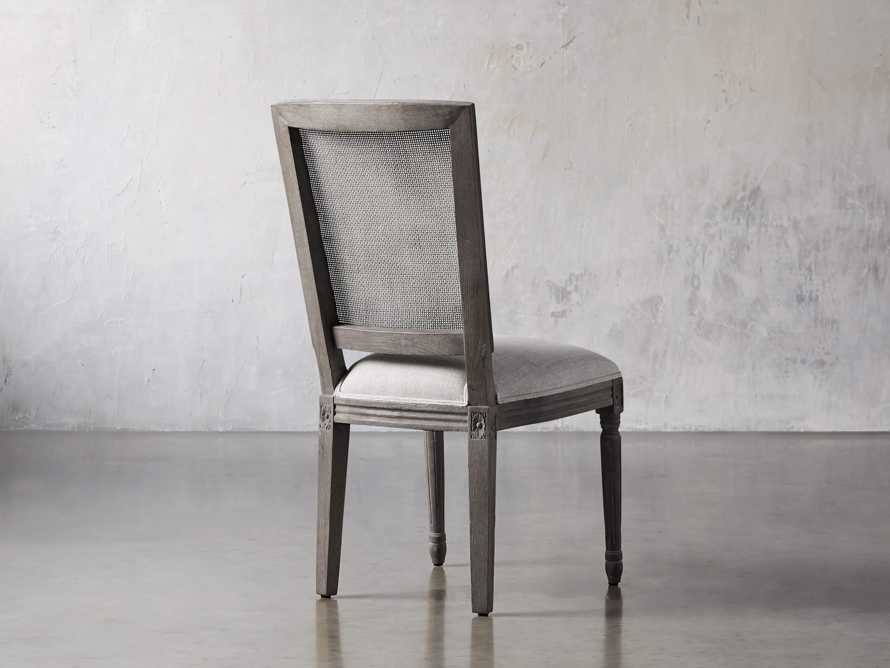 "Adele 23"" Cane Back Dining Side Chair in Stone Vintage, slide 4 of 8"