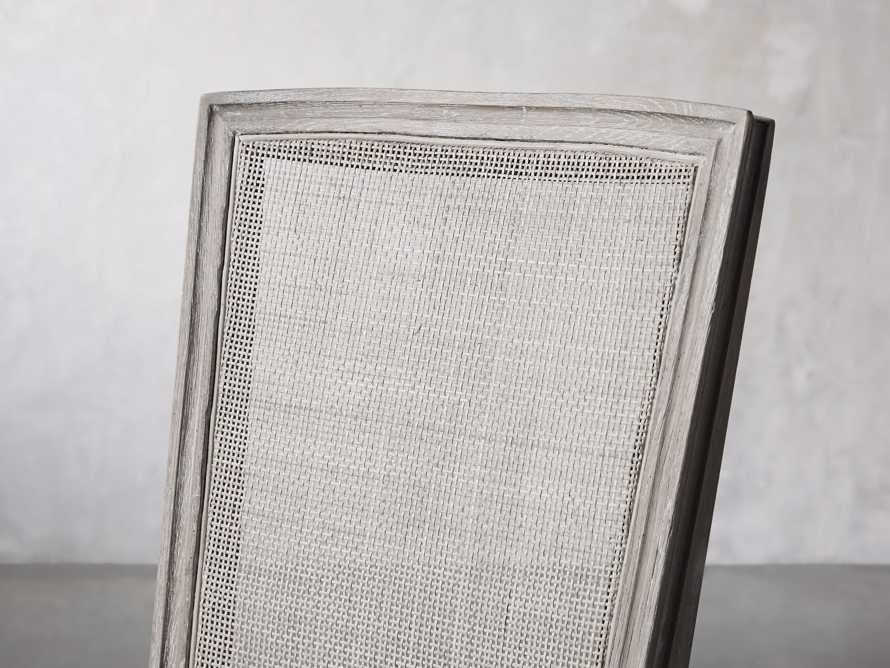 "Adele 23"" Cane Back Dining Side Chair in Stone Vintage, slide 6 of 8"