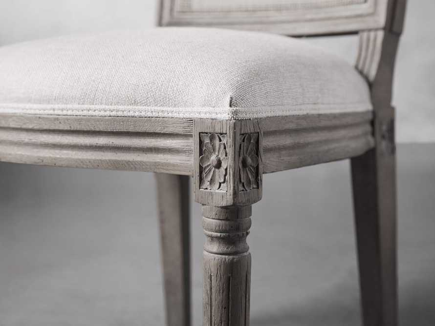 "Adele 23"" Cane Back Dining Side Chair in Stone Vintage, slide 5 of 8"