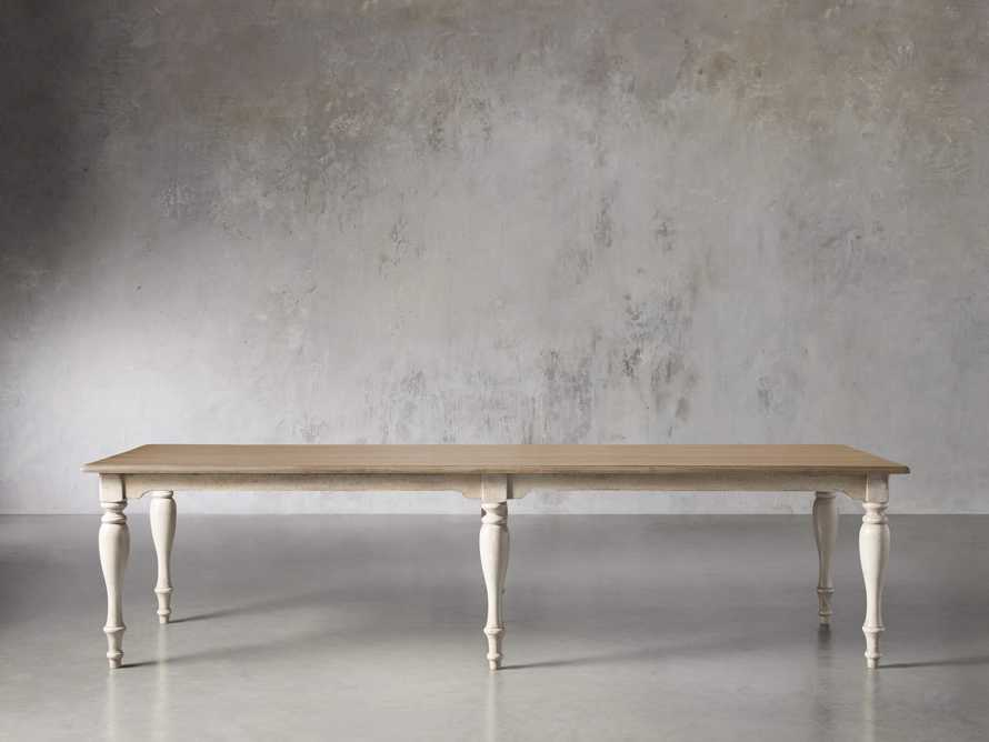 "Adriana 118"" Rectangle Dining Table in Antique Blond/Neve Base, slide 3 of 8"