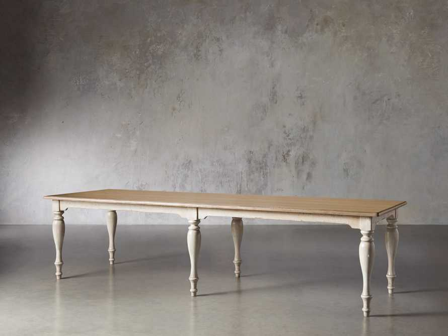 "Adriana 118"" Rectangle Dining Table in Antique Blond/Neve Base, slide 4 of 8"